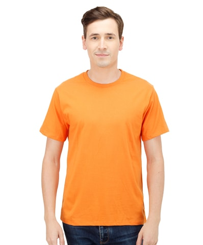 75e8da0f050 Orange Plus Size Crew Neck T-Shirt PSM-387 - Plus Size Clothing in Pakistan